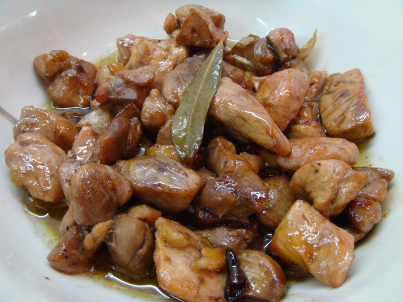 Pollo algunas recetas la saz n la llevo en la sangre - Cocinar pollo al ajillo ...